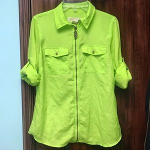 Michael Kors Neon Green Blouse